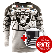 Forever Collectibles Oakland Raiders Ugly Sweater plus Tasse
