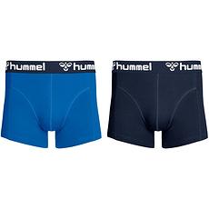hummel Boxershorts HMLMARS 2er Pack hellblau/dunkelblau