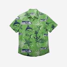 Forever Collectibles Seattle Seahawks Hemd Floral Button Up grün/blau