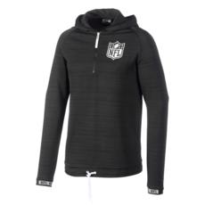 New Era NFL Shield Sweatshirt Engineered Half-Zip schwarz