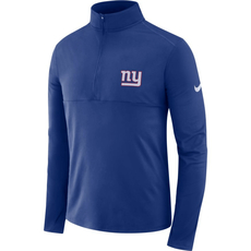 Nike New York Giants Dri-FIT Longsleeve Halfzip Blau