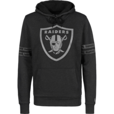 New Era Oakland Raiders Hoodie Tonal Black schwarz