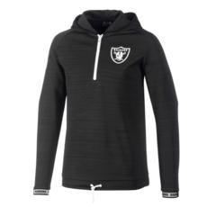 New Era Oakland Raiders Sweatshirt Engineered Half-Zip schwarz