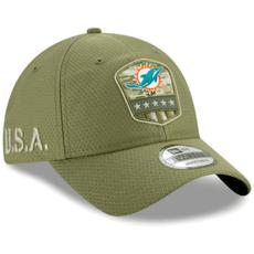 New Era Miami Dolphins Cap Salute To Service 9TWENTY oliv