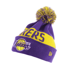 New Era Los Angeles Lakers Beanie Team Tonal Knit lila/gelb