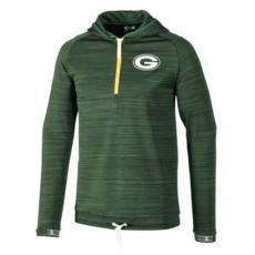 New Era Green Bay Packers Sweatshirt Engineered Half-Zip schwarz