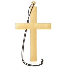 Karnevals- Halskette Kreuz gold