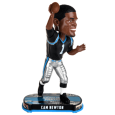 Forever Collectibles Carolina Panthers Bobblehead Cam Newton schwarz/silber
