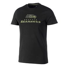 New Era Seattle Seahawks T-Shirt Wordmark Camo oliv