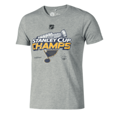 Fanatics St. Louis Blues Stanley Cup Winner 2019 T-Shirt Grau