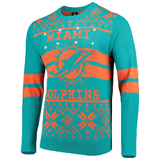 Forever Collectibles Miami Dolphins Ugly Sweater Bluetooth türkis/orange