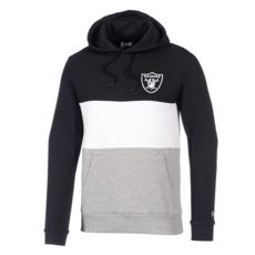 New Era Oakland Raiders Hoodie Colourblock schwarz/weiß/grau
