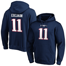 Fanatics New England Patriots Hoodie N&N Edelman No 11 navy