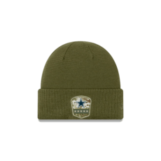 New Era Dallas Cowboys Beanie Salute To Service oliv