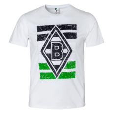 Borussia Mönchengladbach T-Shirt LOGO-FLAG Kinder Weiß