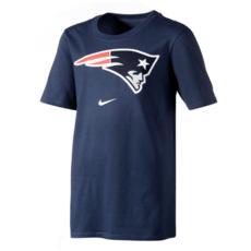 Nike New England Patriots T-Shirt DFCT Essential Kinder blau