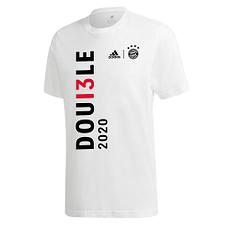 Adidas FC Bayern München T-Shirt Double Sieger 2020 Weiß