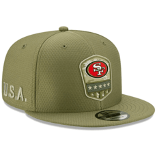 New Era San Francisco 49ers Cap Salute To Service 2019 9FIFTY oliv
