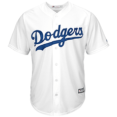 Majestic Athletic Los Angeles Dodgers Replica Cool Base Trikot weiß