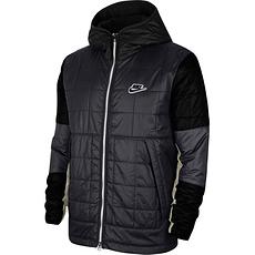 Nike Winterjacke mit Kapuze Schwarz/Grau