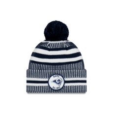 New Era Los Angeles Rams Beanie On Field Sport Knit HM blau