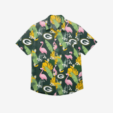 Forever Collectibles Green Bay Packers Hemd Floral Button Up grün