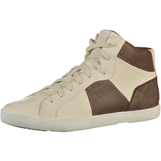 GEOX Sneaker High Nappaleder white/coffee