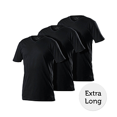Cotton Butcher T-Shirt 3er Pack V-Neck schwarz