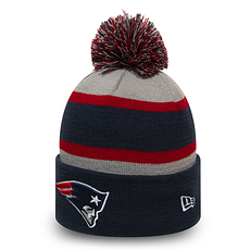 New Era New England Patriots Beanie Striped Cuff Knit Kids blau