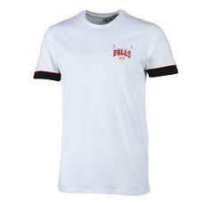 New Era Chicago Bulls T-Shirt Stripe Piping weiß