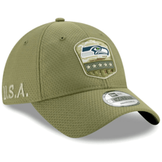 New Era Seattle Seahawks Cap Salute To Service 9TWENTY oliv