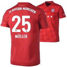Adidas FC Bayern München Heim Trikot MÜLLER 2019/2020 Kinder