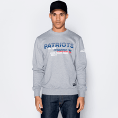 New Era New England Patriots Sweatshirt Wordmark Slogan grau