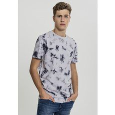URBAN CLASSICS T-Shirt Batik hellgrau/grau
