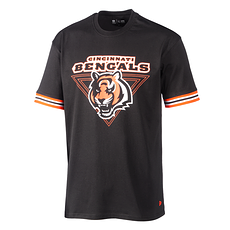New Era Cincinnati Bengals T-Shirt Stripe schwarz