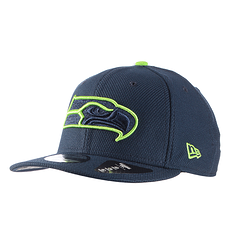New Era Seattle Seahawks Cap Team Outline 9FIFTY blau