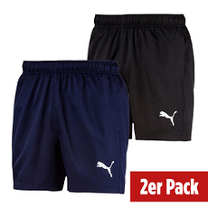 Puma Shorts Active Woven 2er Set Schwarz/Blau