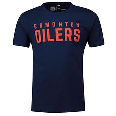 Fanatics Edmonton Oilers T-Shirt Graphic Wordmark navy