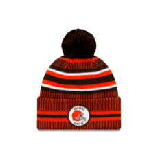 New Era Cleveland Browns Beanie On Field Sport Knit HM orange
