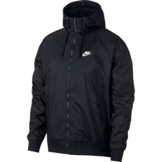 Nike Kapuzenjacke Windrunner schwarz/weiß