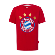 FC Bayern München T-Shirt LOGO Kinder Rot
