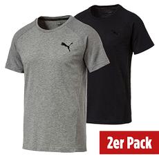 Puma T-Shirt Evostripe Move 2er Set Grau/Schwarz