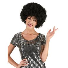 Karnevals- Perücke Afro schwarz