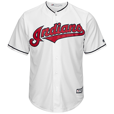 Majestic Athletic Cleveland Indians Replica Cool Base Jersey weiß
