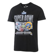 Majestic Athletic T-Shirt Goal Line Stand Super Bowl 53 schwarz