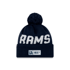 New Era Los Angeles Rams Beanie On Field Sport Knit RD blau