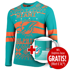 Forever Collectibles Miami Dolphins Ugly Sweater plus Tasse