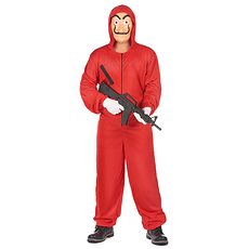 Karnevals- Kostüm Bankräuber rot
