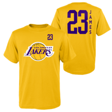 Outerstuff EMEA Los Angeles Lakers T-Shirt Lebron James Standing Tall gelb