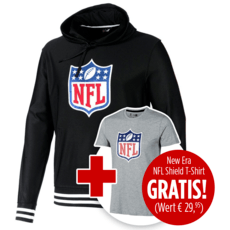 New Era Hoodie NFL Shield inklusive T-Shirt NFL Shield Logo
